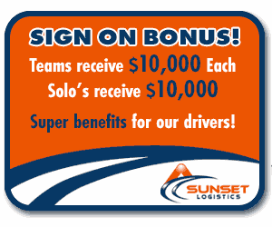 Sunset Logistics | Sign On bonus