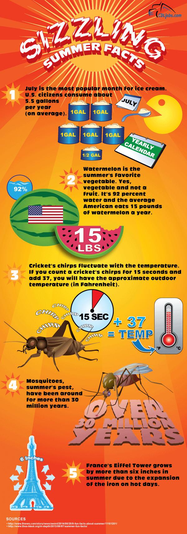Summer Fun Facts | CDLjobs.com
