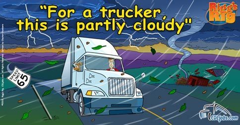 Truck Drivers Brave the Storm | CDLjobs.com