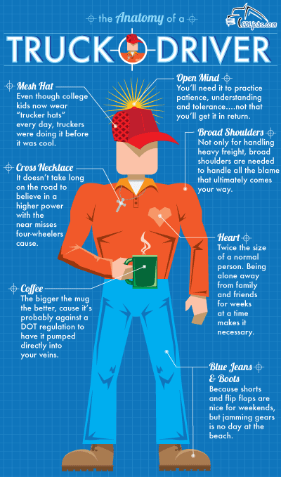 Anatomy of a Truck Driver | CDLjobs.com