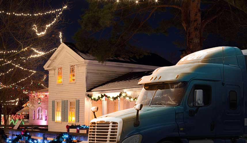 long haul trucking and the holidays